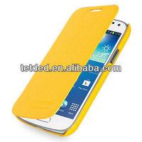 OEM Premium Leather Case for Samsung Galaxy S4/IV mini/mini LTE GT-I9190 I9195 I9192 -- Dijon II (LC: Yellow)