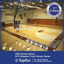 Indoor Basketball Hall Wood Vinyl Plank Flooring For Sports Flooring