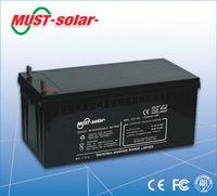 Gel battery 12v 200ah batteries for solar system 5kw