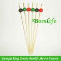 fiesta de colores decorativos ronda desechables palillos de bambú de