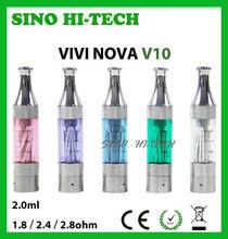 Colorful V10 Mini Tank Atomizer VIVI NOVA 2ml.3 Resistance.Ecig Vivi Nova Atomizers,Accept Paypal