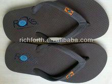 soft Rubber flip flop men's PE flip flop slippers, custom-made flip flops slippers