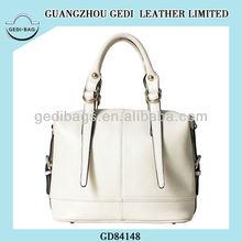 2014 White Leather Handbag MC Leather Handbag