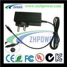 12v 2000ma ac adapter 24W AU input pass SAA.UL,Dc pulg 4.0*1.7mm
