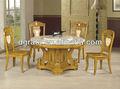 2013 mármol mesa de comedor y sillas fue hecho de madera de roble macizo y de escritorio de mármol