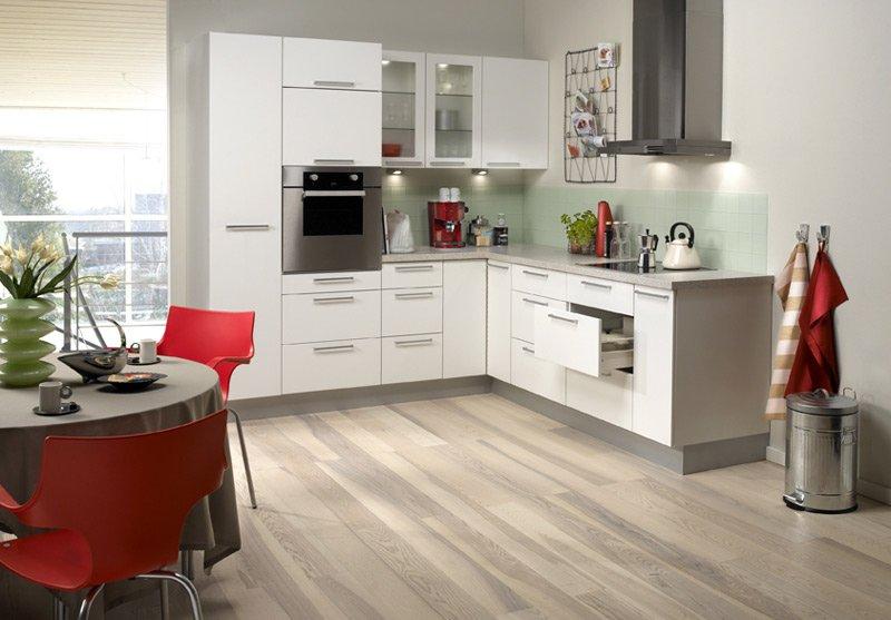 Paquete plano en muebles blancos planos de la cocina - Planos de muebles de cocina ...