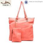 China manufacturer most popular weaved handle lady handbag bags online
