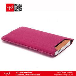 Stylish portable unique leather case for iphone 5 weltomized leather case for iphone 5 with flexible canvas strap for wholesale