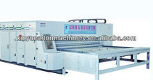 professional cardboard box multicolor printing slotting with four blade die-cutting machine