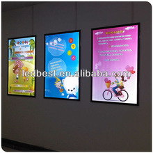 Rational construction single sided led light box for ad.