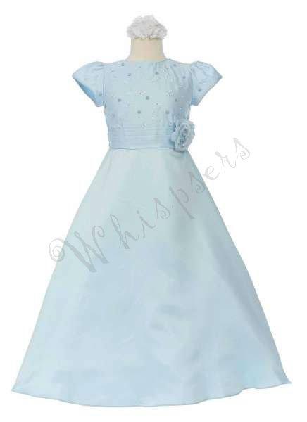 Baby blue 581 usura ragazza formale fiore ragazza concorso nazionale di nozze pasqua partito prom abito ricamo 4-14 occasione speciale