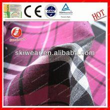 Functional fireproof cotton fabric big checks