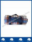 Portable Rolled Plaid Allover Printed Brushed Fleece Blanket