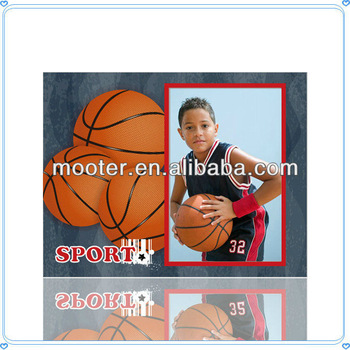 New Design Glass Basketball Picture Frame For School Game Souvenirs