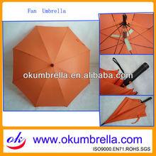 Fiberglass printing logo sun and rain golf umbrella for promotion