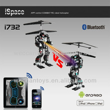 i732- 2013 WECCAN! 2ch mini rc helicopter with combat function and gyro control by mobile phone