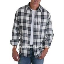 Men's Painted Desert White Navy Plaid Shirt