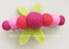 handmade felt flower hair clip