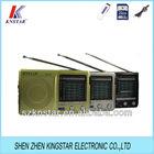 kk-9 world band radio FM(TV)/MW/SW1-9 pocket radio receiver