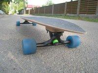 Longboard deck, handmade, wooden