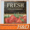 strawberry fruit shop metal logo sign board
