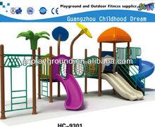HI BUDDY ,LET'S MOVE ,MINI PLASTIC CHILDREN OUTDOOR PLAYGROUND TUNNEL SLIDE (HC-9301)