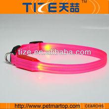 fashion dog products with nylon webbing and high bright light TZ-PET2110F dog collar light
