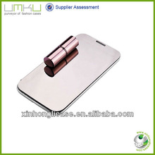 Deluxe Mirror Face Smart Leather Mobile Phone Cover Case For Samsung Galaxy Note 2