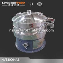 with wheel vibratory separator