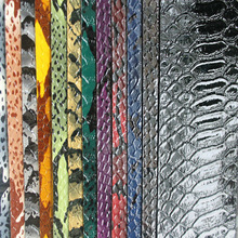 snake pvc leather for making shoes bags manufacture in china