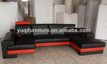 2013 New Italian design large size leather lounge U-shaped corner leather sofa furniture for buildings 9102-29