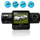 "x6000 2.0"" screen 120degree Dual Lens G-Sensor GPS IR Light Full HD 1080P dash cam"