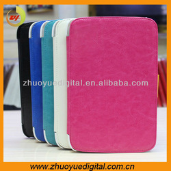 Fashion solid standing rhombus Flip Leather bags Hard back Case protective cover for ipad mini