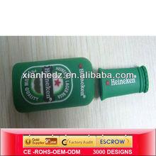 Green USB flash drive bottle,PVC USB drive bottle,Customized USBS drive