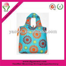 Nylon full printing foldable reusable shopping bag