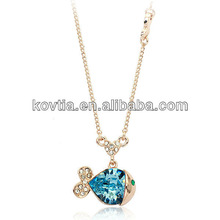 Girls jewely necklace lovely fish pendant necklace friendship
