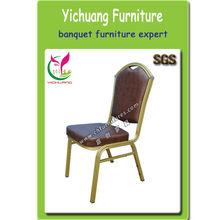 Popolare e di buona qualità in alluminio sedia, pelle marrone, spugna ad alta sicurezza, sgs certificato, sedia da pranzo ristorante sedia yc-zl26