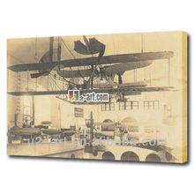 tela de pintura antiga fábrica de aviões de fotos fotos
