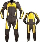 motor bike suit yellow