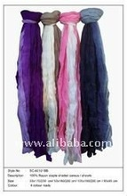 Rayon staple shaded pareos / shawls