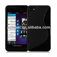 S line TPU Gel Case for Blackberry Z10 + Screen Protector