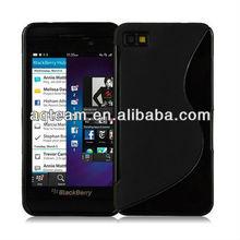 S line TPU Gel Case for Blackberry Z10 + Screen Protector