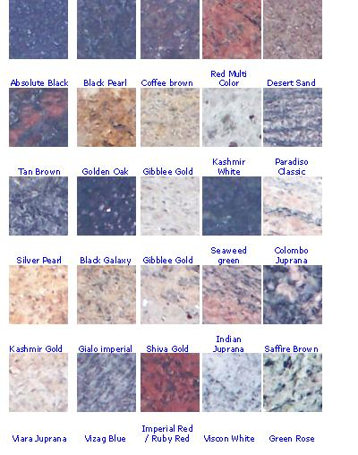 Granito strutture prefabbricate controsoffitti ripiani - Encimeras granito colores ...