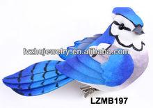 Wedding decorative bird feather blue jay bird LZMB197