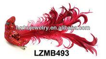 Wedding decorative feather cardinal bird LZMB493