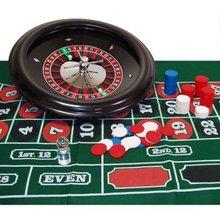 Roulette Set 18 Wheel, Layout, Marker, 100 8. 5g Chips