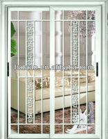 clear glass sliding aluminum door grill design
