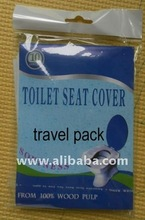 Disposable toilet tissue seat cover paper for travel pack