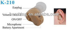 Hearing aids manufacturers K-210 invisible hearing aid