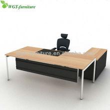 L Shape Metal Frame Executive Office Desk